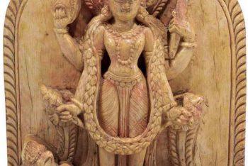 An ivory figure of Vishnu