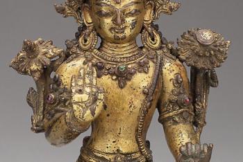 Bodhisattva Avalokiteshvara Seated with Hand in Gesture of Reassurance (Abhayamudra)