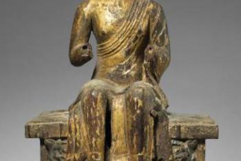 Figure of a Maitreya on a Tiered Pedestal