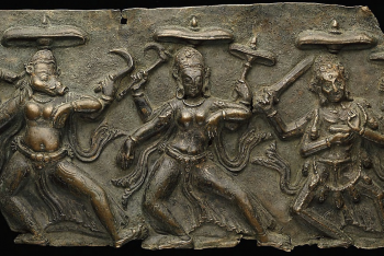 Fragment of Mother Goddesses (Matrika) Panel with Varahi, Kaumari, and Chamunda