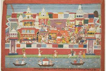 Krishna's Marriage to Kalinda, page from a manuscript of the Bhagavata Purana