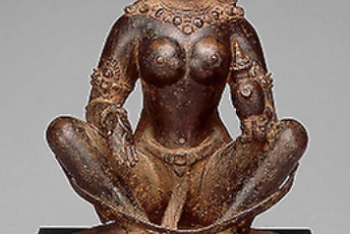 Mother-Goddess Brahmani Seated in Yogic Posture Holding Water Pot