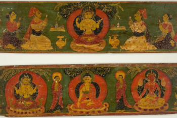 One of a Pair of Manuscript Covers from the Perfection of Wisdom Sutra (Ashtasahasrika Prajnaparamita Sutra)