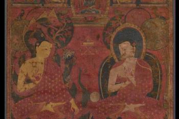 Sakyamuni with a Disciple Thangka