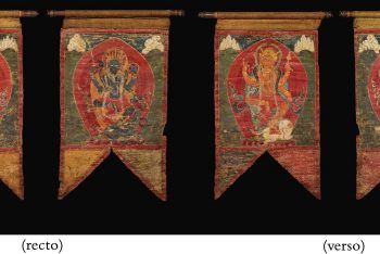 TWO BANNERS DEPICTING VARIOUS DIVINITIES