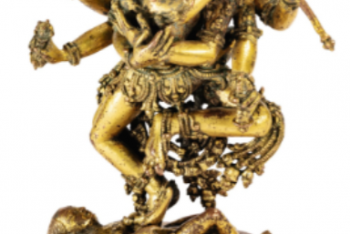 Chakrasambhara statuette alloy gilded copper Nepal