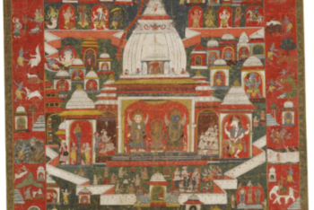 A PAUBHA DEPICTING THE WORSHIP OF LORD JAGANNATHA