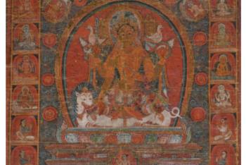 Tangka représentant Durga Népal