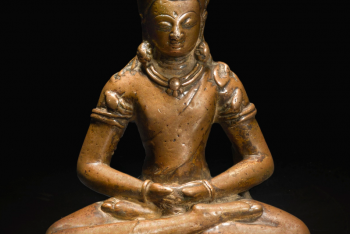A BRONZE FIGURE OF AMITABHA Nepal, 11th Century