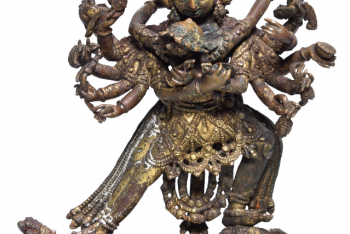 A GILT-COPPER ALLOY FIGURE OF CHAKRASAMVARA
