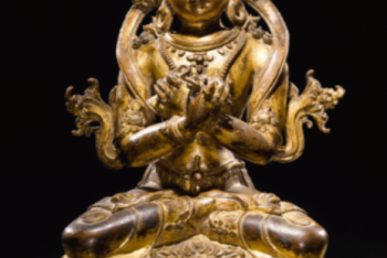 A GILT-COPPER FIGURE OF VAJRADHARA Nepal, circa 15th Century