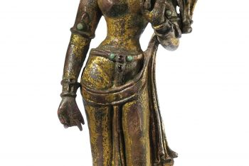 A Gilt Bronze Figure of a Standing Tara