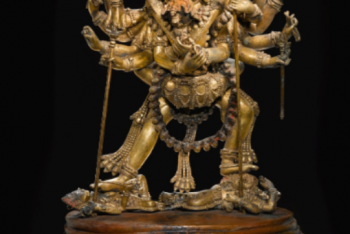 A MONUMENTAL GILT-COPPER GROUP OF CHAKRASAMVARA AND VAJRAVARAHI Nepal, 16th/17th Century