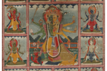 A PAINTING DEPICTING LAKSHMI NARAYANA