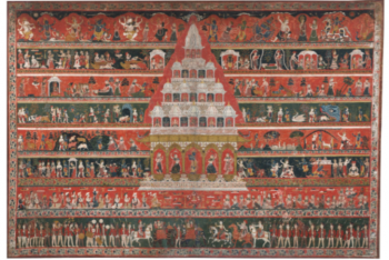 A PAUBHA DEPICTING A KRISHNA TEMPLE Nepal, 17th/18th Century
