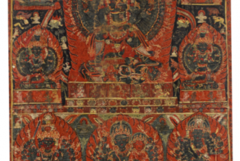 A PAUBHA DEPICTING GUHYAKALI Nepal, circa 16th Century