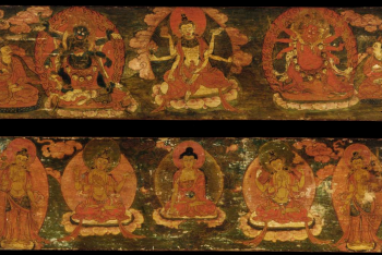 Buddhist deities (pair of manuscript covers)