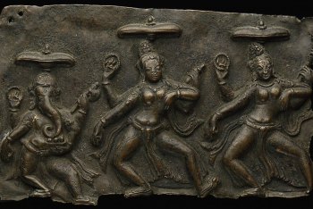 Fragment of Mother Goddesses (Matrika) Panel with Ganesha
