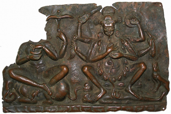 Fragment of Mother Goddesses (Matrika) Panel with Indrani and Chamunda
