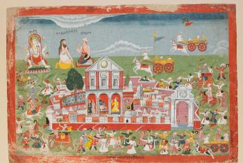 Jarasandha's Army Beseiges Mathura, from a Bhagavata Purana