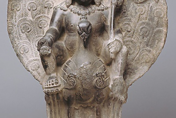 Kumara, the Youthful God of War on his Peacock Mount