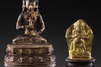 Miniature statue of Vajrasattva copper alloy Nepal, ca. XIV E century