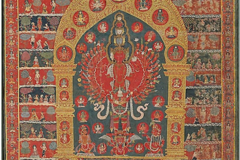 Painted Banner (Thangka) of the Avalokiteshvara Incarnation of the Rain God Rato Matsyendranatha
