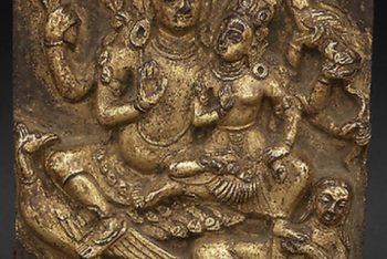 Plaque with Local Deity Ghantakarna and Spouse