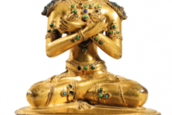 Vajradhara golden copper Nepal statue