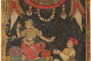 Displeased Heroine (Kalahantarita), Nayika Painting Appended to a Ragamala (Garland of Melodies)