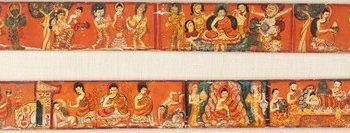 Scenes from the Life of Buddha Shakyamuni, Covers of an Ashtasahasrika Prajnaparamita (The Perfection of Wisdom in 8,000 Verses)