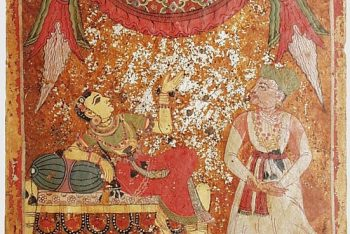 Slighted Heroine (Khandita), Nayika Painting Appended to a Ragamala (Garland of Melodies)