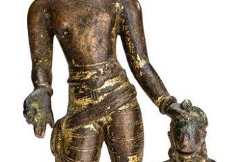 The Bodhisattva Vajrapani with Vajra Anuchara