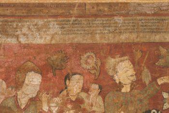 The Mahasiddha (Great Adept) Vanaratna (1384-1468) Receiving Abhishekha (Initiation) from Sita Tara (White Tara)