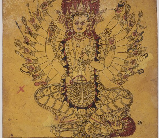A Tantric Form of the Hindu Goddess Kali (Recto), Horse (Verso), Folio from a Book of Iconography
