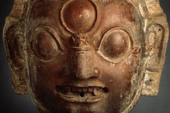 Head of the Hindu God Bhairava from a Libation Vessel