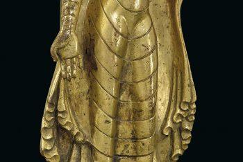 SHADYAMUNI BUDDHA STATUE IN GOLDEN COPPER