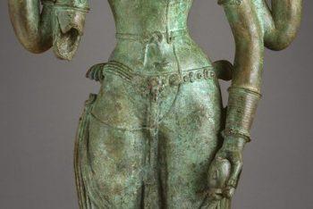 The Androgynous Form of Shiva and Parvati (Ardhanarishvara)