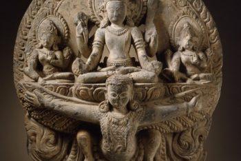 The Hindu God Vishnu on His Mount Garuda