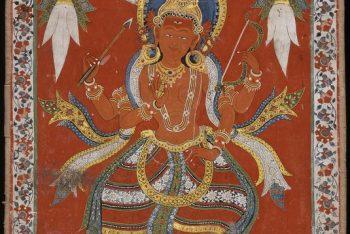 The Hindu Godess Indrani (a); The Hindu Goddess Brahmani (b)