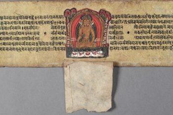 The Jina Buddha Ratnasambhava, Folio from a Pancharaksha (The Five Protective Charms)