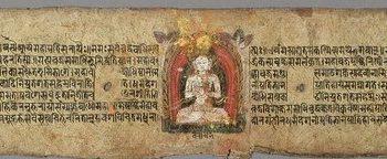 The Jina Buddha Vairochana, Folio from a Pancharaksha (The Five Protective Charms)