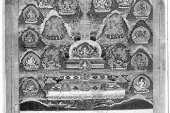 Usnisa Caitya with Five Dhyani Buddhas