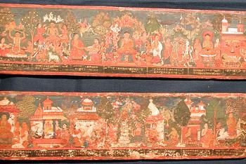 Buddhist manuscript covers (a pair)