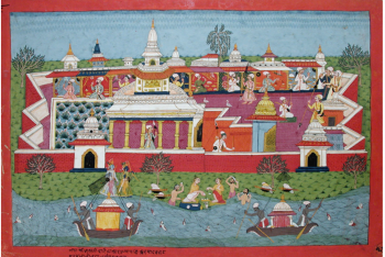 Krishna returns to Dwarka after killing the murderer of his father-in-law