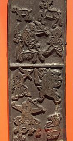 Print Block (Par-shing) of Dud Spirits and Dre Spirits with Sheep, Deer and Elephant