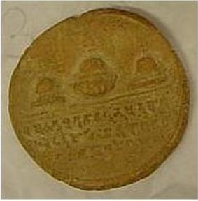 Saccha Depicting Three Stupas