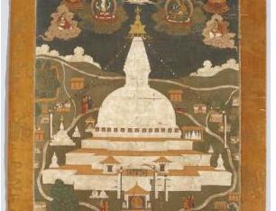 Thangka painting of Bauda Stupa, Nepal
