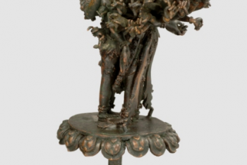 The god Vireśvara Bhairava (Vireshvara Bhairava) and the goddess Khagānanā Kālī (Khaganana Kali)