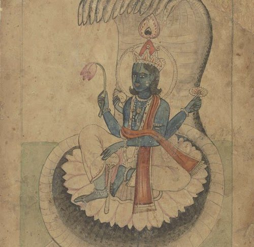Krishna on his throne